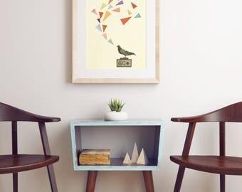 CLEARANCE SALE! A3 Bird Art, Pigeon Print - Pigeon Radio