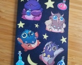 Moonkin Notebook with reusable cover