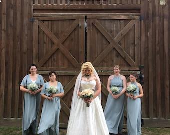 Rustic Wedding Jewelry Country Bridal Theme Glam Chunky Statement Necklace Rhinestone Multi Strand Bridesmaid Sets