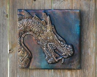 Dragon Art Garden Sculpture, Chinese Dragon Stone Wall Plaque, Asian Dragon Sculpture, Dragon Decor