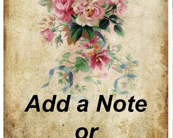 Add a Note or Add a Card to Your Order, Add a Message