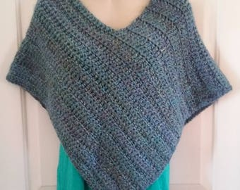 Poncho - Blue and Green