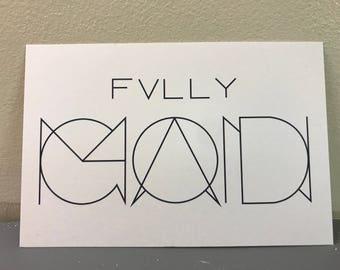 Postcard - Fully God/Man