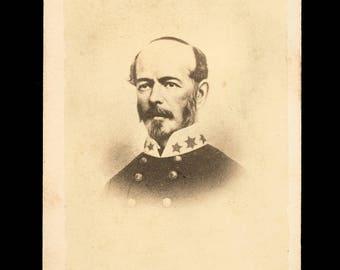 Rare Original Civil War CDV Photo CSA Confederate General Joseph Johnston / Tax Stamp
