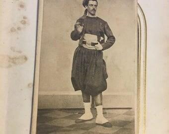 CDV Photo ID'd Civil War Soldier 55th New York ~ RARE Lafayette Guard Zouave