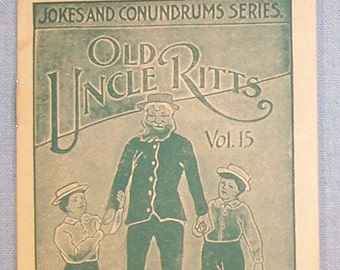 Vintage 1900's FAULTLESS STARCH Story Booklet-Volume #15 - Old Uncle Ritts-FREE Shipping!