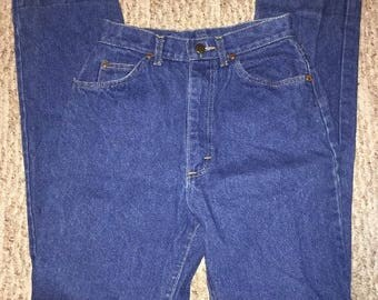 Vintage Lee Women's Mom Jeans Size 8 Med High Waisted 100% Cotton Made In USA