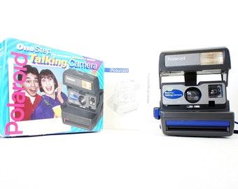 Talking Polaroid Camera 636 OneStep w/ Original Box and Manual - Film Tested Working