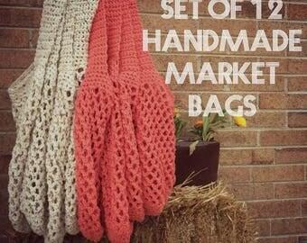 Market Bags - Crochet Market Bags - Handmade Market Bags - Wholesale Market Bags - Bulk Market Bags - Cotton String Bags
