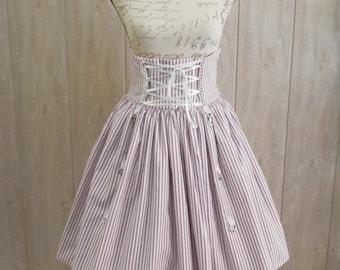 Violet and White strippes Skirt