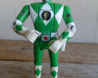 Green Mighty Power Rangers Action Figure Bandai 1993 Vintage
