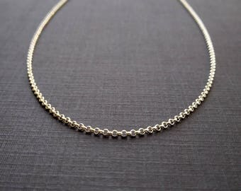 1.5mm ROLO - 16, 18, or 20 Inch Sterling Silver Rolo Chain - Silver Necklace - Rolo Necklace Chain - Finished Chains - Simple Necklace