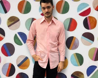 Vintage 1950's Grant's Pink Button Down Shirt
