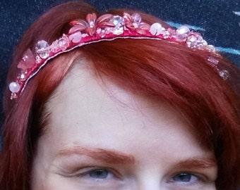 Pink Flower Princess Tiara