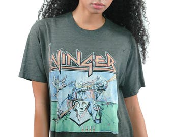 Vintage WINGER Shirt Too Tuff to Tame 1988 Concert Shirt 1988 Tour Band Tee 1980s Tee 1980s Shirt Hair Metal Glam Rock