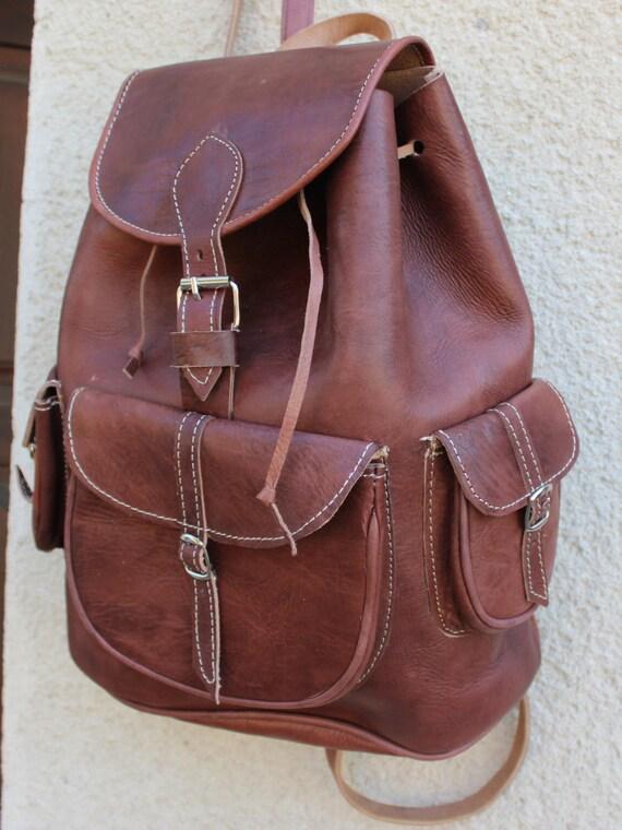 SALE! Leather Weekender! XL Backpack from  genuine cowhide, Mens travel bag, Zaino,travel bag, unisex backpack