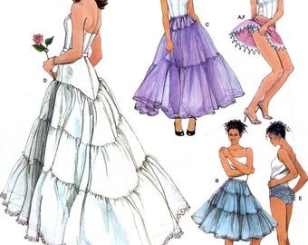 Simplicity 3737 Sewing Pattern for Misses' Lingerie - Petticoats and Ruffled Panties - Uncut - Size 6, 8, 10, 12