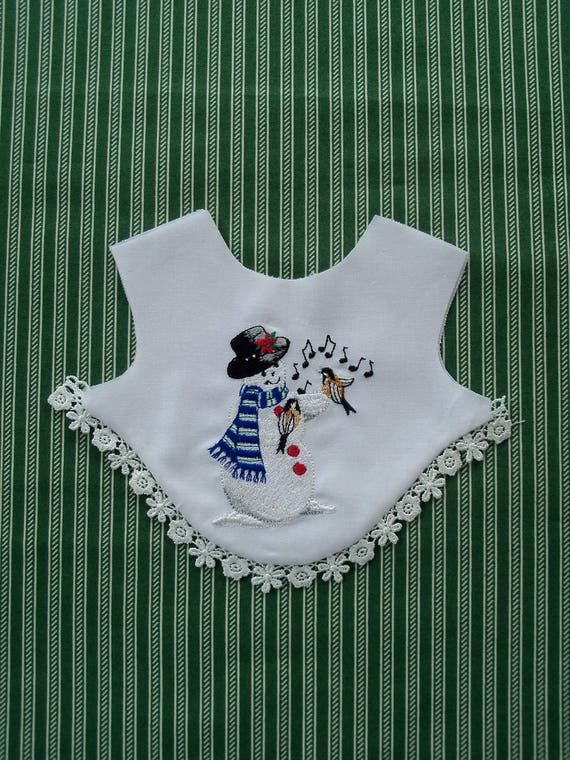 "18"" Size/ COMPLETELY FINISHED Elaborately Embroidered  Christmas Bodice Front Overlay / 18"" American Girl  Doll Size"