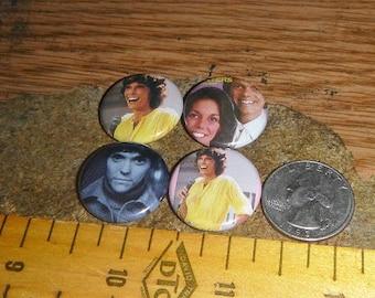 KAREN CARPENTER 4 one inch pin back buttons badge set