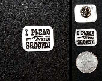 I Plead the Second Pewter Lapel Pin - Winchester