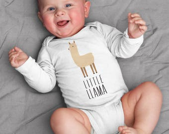 Baby clothes, Llama baby bodysuit, baby boy clothes, baby girl clothes, short sleeve, long sleeve, 3 months - 18 months, baby shower gift