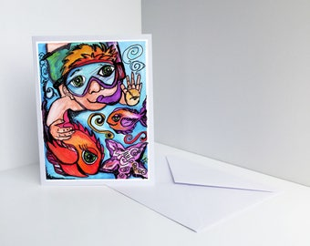 Under the Sea Blank Card