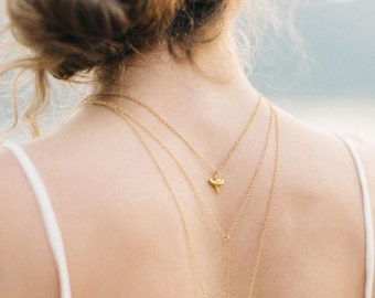 Tiny Shark Tooth Necklace - Delicate Gold Shark Tooth - Dainty Summer Jewelry - Dewdrop Layering Necklace - Minimalist Everyday Jewelry
