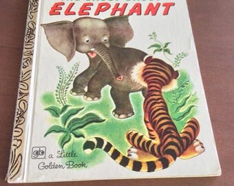 Vintage Golden Book The Saggy Baggy Elephant great original condition  39 cent original price of book