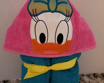 Daisy Duck Hooded Towel