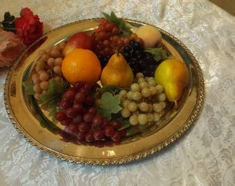 beautiful vintage artificial fruits, still life , look like real.You will have 5 fruits and 5 kinds of grapes .Gift idea