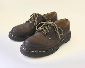 90s Brown Leather Doc Martens Womens 7 UK 5 EUR 38 Dr Marten
