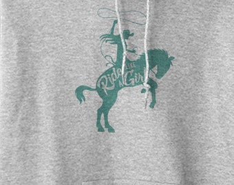 Ride Like a Girl Equestrian Hoodie Sweatshirt
