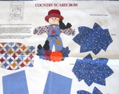 Country Scarecrow Door Decor - Sewing Fabric Panel
