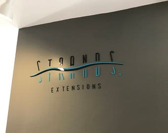 "5""H 3D Plexiglass Acrylic Letters With Your Own Text - Custom Laser Cut and Engraving-Business Sign 3D Wall Decors Office Wall Art"