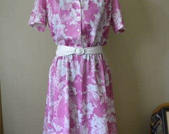Floral Day Dress Sz. L