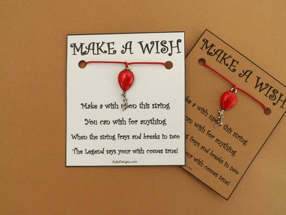 Red Balloon IT Themed Wish Bracelet