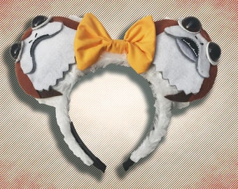 Space Penguin Mouse Ear Headband w/ Bow