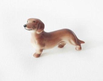 Vintage Porcelain Dachshund Dog Mid Century