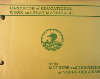 VTG 1941 Handbook of Educational Work and Play Materials Catalog