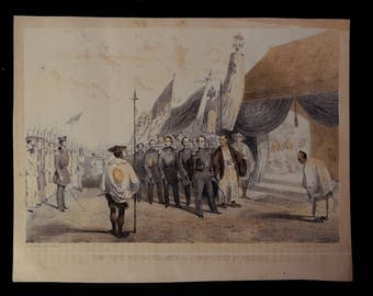 "Vintage Lithograph ""Commo Perry meeting the Imperial Commissioners at Yokuhama"""