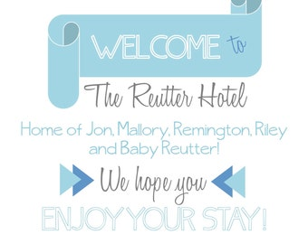 Pregnancy Announcement for visitor, bed tent sign