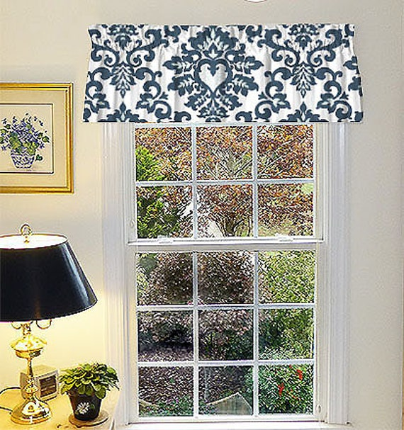 Frilled Kitchen Curtains Lined: Lined Valance Kitchen Valance Window Valance Curtain