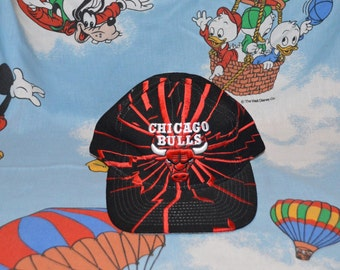 Vintage 1990s NBA Chicago Bulls Starter Snapback! Retro Lightning Hat!