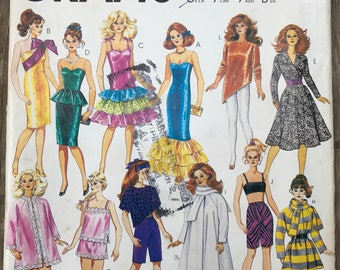McCall's Crafts 869 Doll Sewing Pattern / Vintage 1987 Doll Clothes Sewing Pattern Uncut