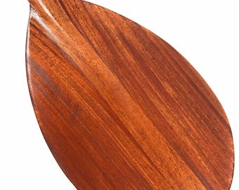 "Blonde Koa Paddle w/ Straight Shaft 36"" - Steersman Design Made in Hawaii 