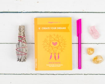 Create Your Dreams Action Pad, manifesting notepad, positive stationery, mindfulness notepad, by The Happi Empire