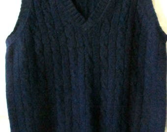 Men's Coxmoore  Shetland Wool Navy Blue Sweater Vest, L
