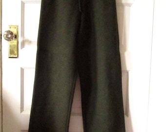 Geiger Loden Green Wool Pants, 38, Made in Austria