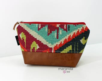AVA Clutch Small - Fiesta with PU Leather READY to SHIp
