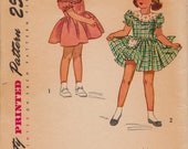 Simplicity 2529, Vintage Sewing Pattern, 1940s, Girls Sewing Pattern